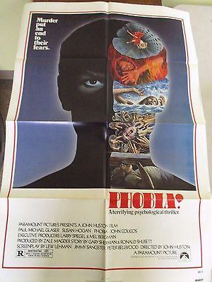 Vintage 1 sheet 27x41 Movie Poster PHOBIA 1980 Paul Michael Glaser Susan Hogan