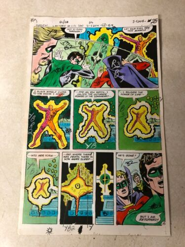 GREEN LANTERN #112 ART color guide 1979 GREEN ARROW STARHEART ZALAZ DC AWESOME