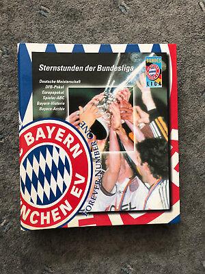 Bayern München Sternstunden der Bundesliga Sammelordner gefüllt mit Sammelkarten (Fußball-karte Ordner)