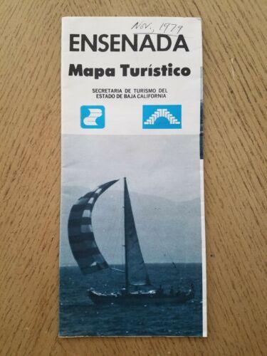 VTG 1979 OFFICIAL Ensenada Baja California Mexico City Street Highway Road Map