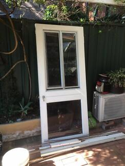 FREE external timber and glass door with flyscreen sliding window