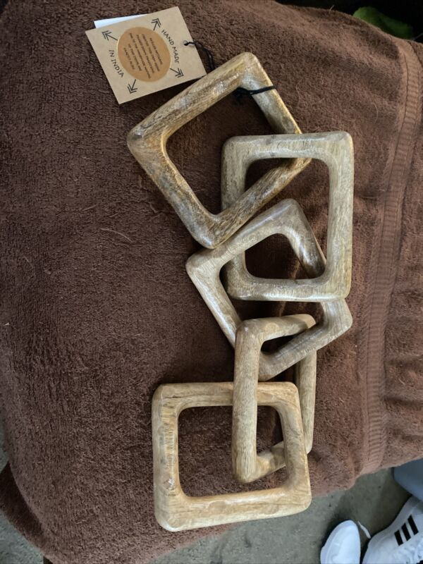 Wooden Hand Carved Link Decorative Chain Hand Made In India