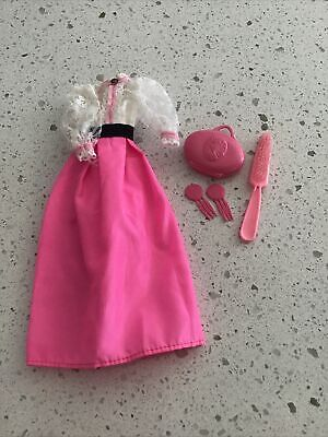 Vintage Barbie Doll Angel Face Dress With CAMEO And Accessories Superstar Era