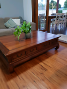 Large wooden balinese coffee table Currumbin Waters Gold Coast South Preview