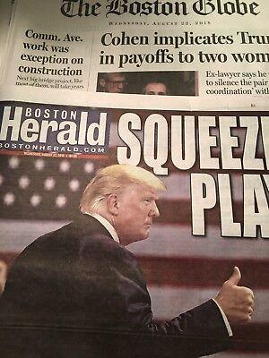Boston Globe OR Boston Herald August 22, 2018 Manafort Convicted Cohen Guilty