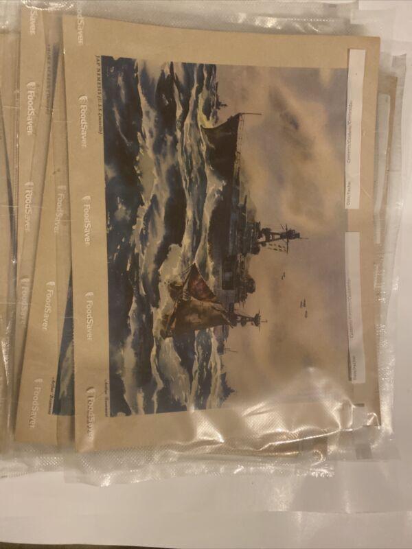 WWII Navy Combat Art Print Set Battleship Aircraft Carrier Arthur Beaumont 1944