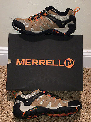 Merrell Accentor Stretch Otter/ Brnt Orange Hiking Shoes Men's Size 10M Bungee