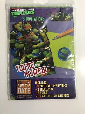 Teenage Mutant Ninja Turtle Invitations - 8 New](Ninja Turtle Invitations)