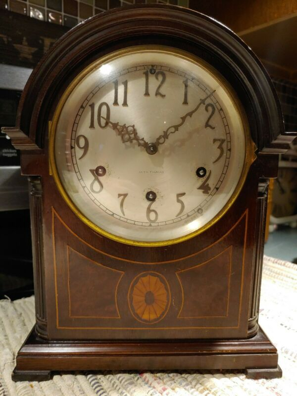 Seth Thomas Mahogany Westminster 8-day Chime Mantle Table Clock