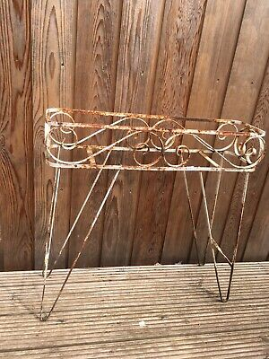 Vintage Wrought Iron Planter Stand