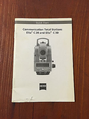Zeiss Elta C20c30 Communication Total Station Manual Surveying