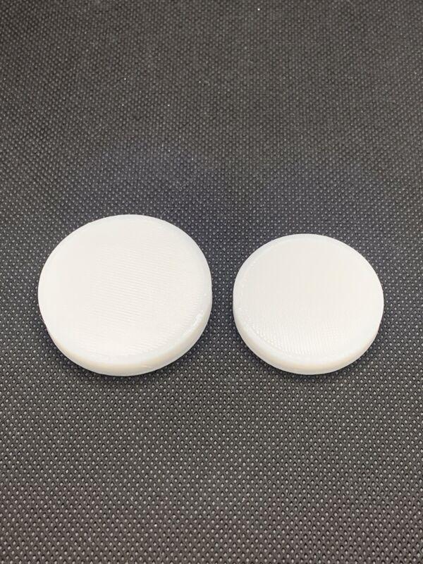 "2 Press Pads  1.75"" & 1.5"" Diameter Coin Ring Making Tools"
