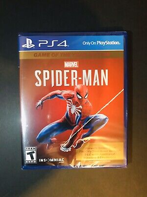 BRAND NEW!!! PS4 MARVEL SPIDER-MAN GAME OF THE YEAR EDITION 2019