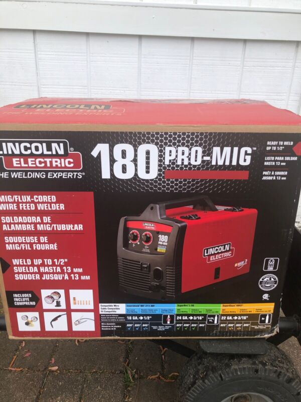 New Lincoln Electric Pro MIG 180 Wire Feed Welder K2481-1