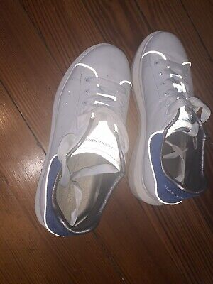 RARE Reflective Alexander Mcqueen Blue Sneakers Size 39 Womens Size 7.5/8