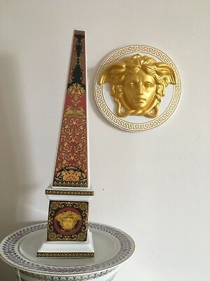 VERSACE MEDUSA OBELISK RED ROSENTHAL in BOX RETAIL $800 RARE COLLECTIBLE SALE