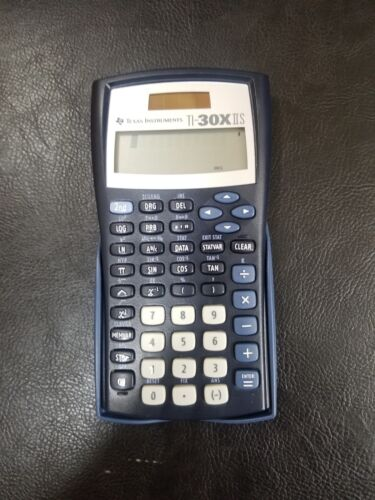 Texas Instruments TI-30X IIS Blue Scientific Calculator with Cover TESTED