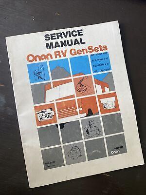 Onan Rv Genset Bf Bfa Bga Nh Service Manual Generator Book Guide Repair Shop Oem
