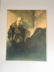 "Rembrandt on canvas! 33 "" x 42.5 ""! Large piece!"