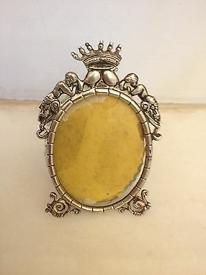 ANTIQUE DUTCH ORNATE SOLID SILVER PICTURE FRAME