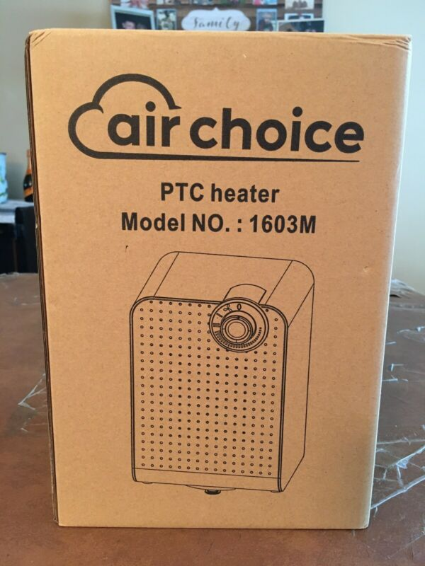 Ptc Space Heat - Air Choice 1603m 1500w Portable Electric Heater New In Box!