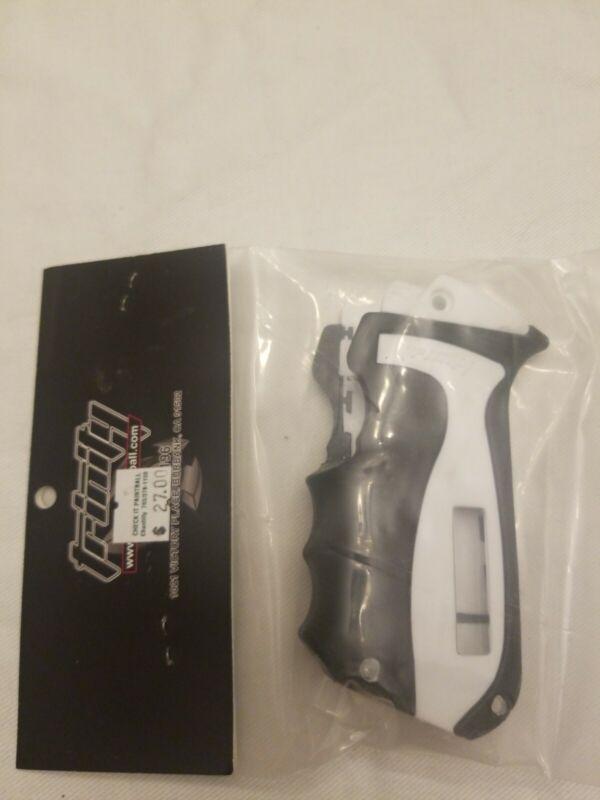 Trinity Paintball Grip for Spyder Electric ESP Frames  White/Black w/ Window