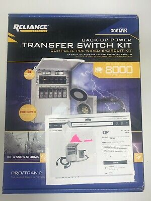 Brand New Reliance Controls 6-circuit Transfer Switch Kit 31406crk 306lrk