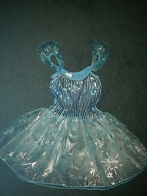Miss Shiny girls Frozen elsa tutu dress costume dance sequin size small