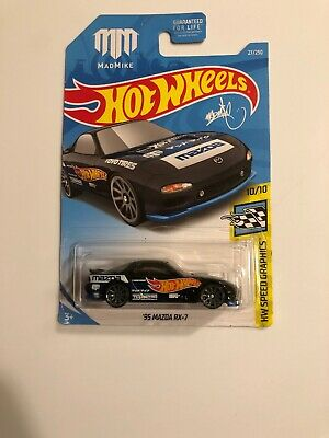 MAD MIKE '95 MAZDA RX-7  HOT WHEELS 2017 SPEED GRAPHICS 1:64 TOYO TIRES