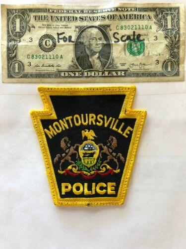 Montoursville Pennsylvania Police Patch pre-sewn in good shape