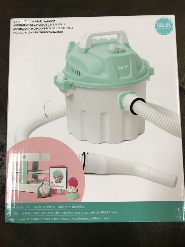 We R Memory Keepers Wet/Dry Vacuum-White/Mint NEW