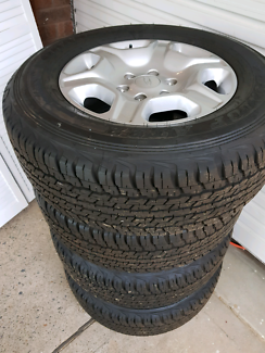 Ford ranger wheels and Dunlop tyres as new. Fit triton, hilux