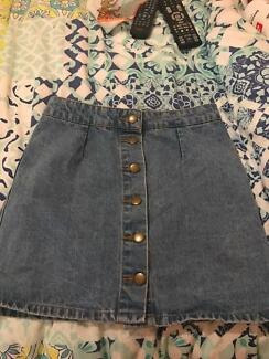 Women's denim skirt size 8