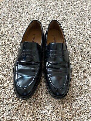 Johnston & Murphy Men's Loafer Size 42 8D C18 Black Gloss Genuine Sheepskin