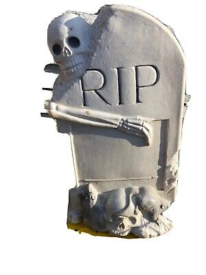 Vintage Skeleton And Tombstone RIP Blowmold! 27 Inches Tall!