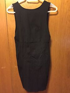 Black spandex material dress
