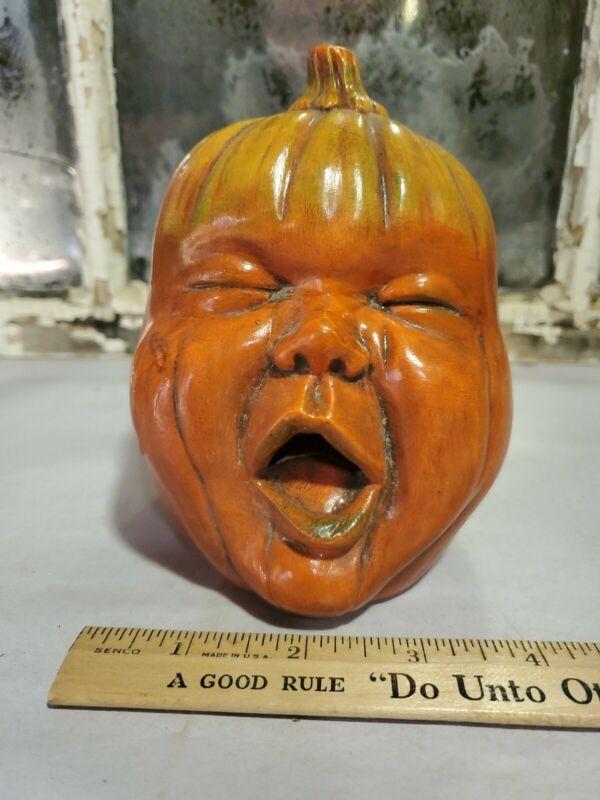 Scioto pumpkin face ceramic. Vintage.
