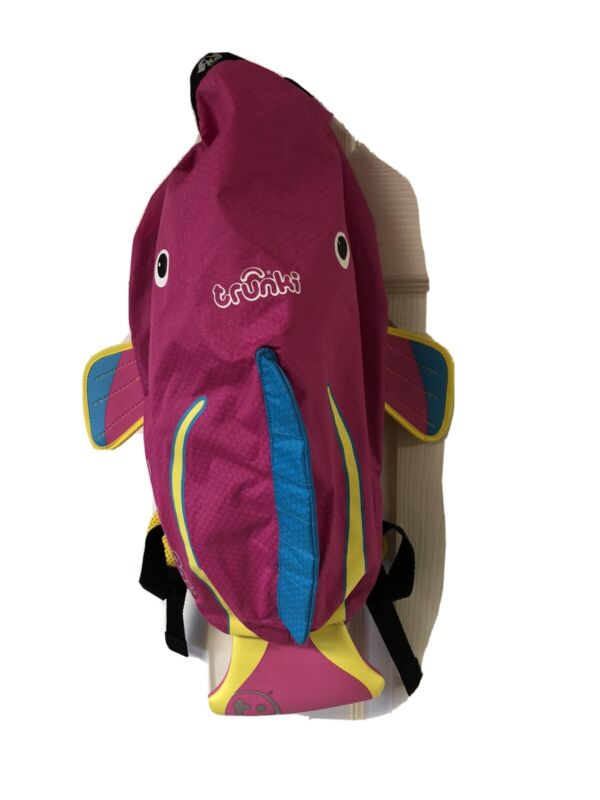 Girls Trunki PaddlePak Pink Fish Small Backpack for Swimsuits Swim Wear Beach