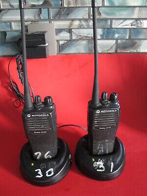 Pair Motorola Cp150 Two Way Radioaah50rcc9aa1an Uhf 438-470 Mhz-tested