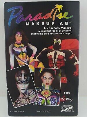 Halloween Makeup Basics (Mehron Makeup Paradise AQ Face & Body Paint 8 Color Palette)