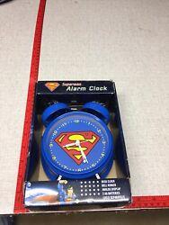 Rare DC Comics SUPERMAN Alarm Clock 6 Desk Vintage Style BELL RINGER