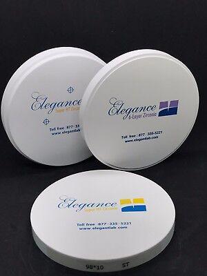 Dental Zirconia Blocksdiscs 98 Mm X 20 Mm Pre-shaded Elegance Premium Tm