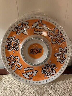 Oklahoma State University Melamine Chip & Dip Platter 14