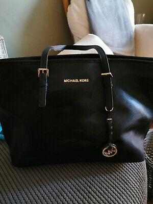 Michael kors BLACK large leather tote bag