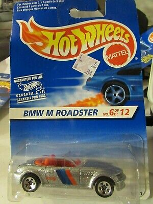 Hot Wheels BMW M Roadster No 6 of de 12 card! Silver 5sp card creased