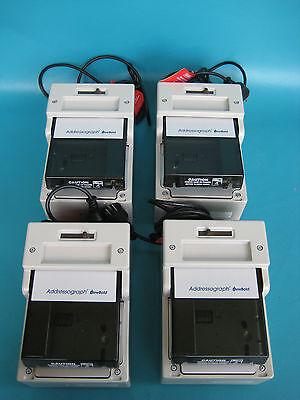 Lot Of 4 Newbold Addressograph Credit Card Imprinter Model 830