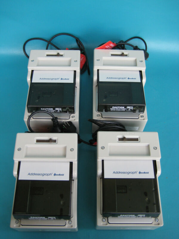 LOT of 4 NewBold Addressograph Credit Card Imprinter Model 830