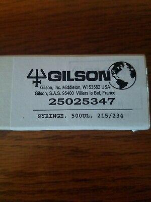 Gilson 500ul Syringe Hplc Pump Syringe. New Unused 25025347