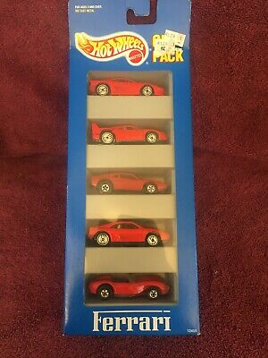 Hot Wheels 1994 Release Ferrari 5 Pack w/ plastic body 308 GTB Sealed