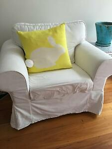 White Armchair up for grabs Woollahra Eastern Suburbs Preview